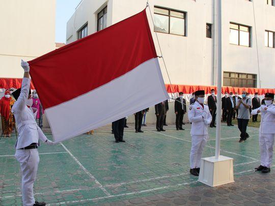 NAT 200817  flag hoisting at Indonesian Embassy in Abu Dhabi-1597667474686