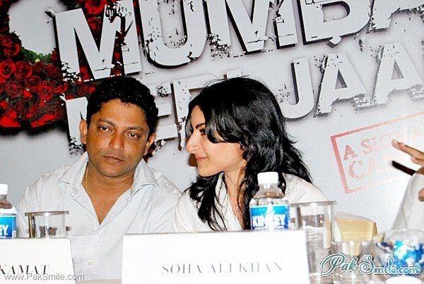 Nishikant Kamat and Soha Ali Khan