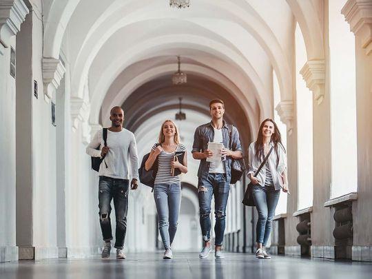 Stock University students campus