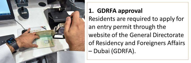 1. GDRFA approval