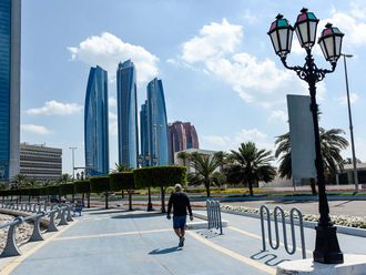 Stock Abu Dhabi skyline