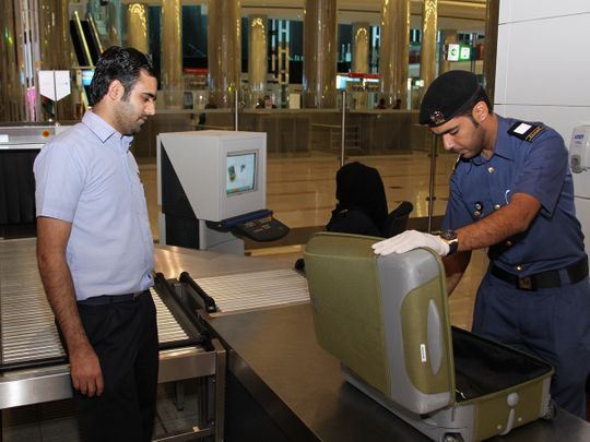 Stock DUBAI CUSTOMS airport