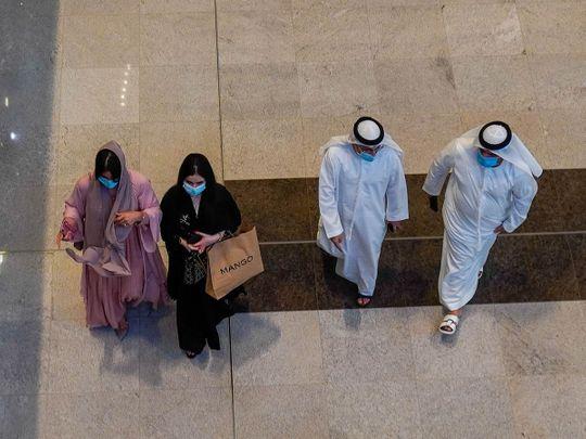 Stock Dubai mall shopping
