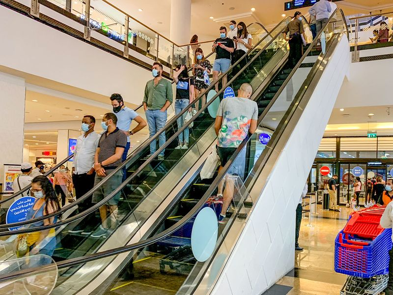 Stock shopping Dubai mall of the emirates
