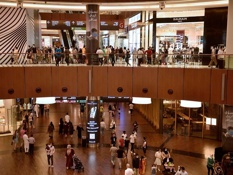 Stock shopping Dubai mall