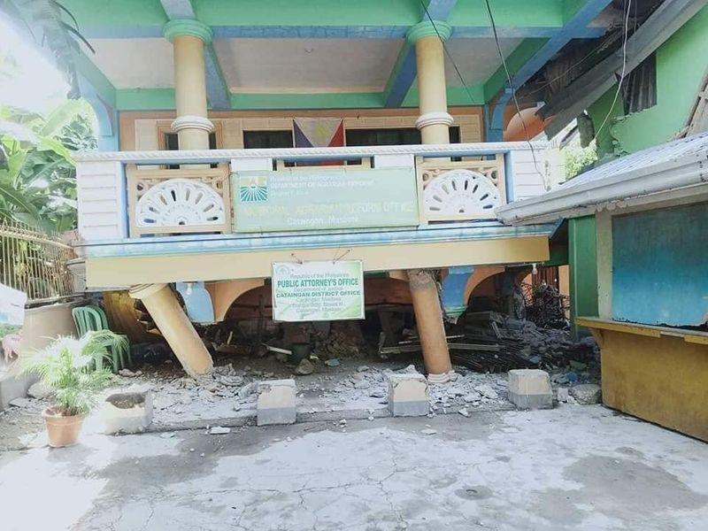 quake damage philippines