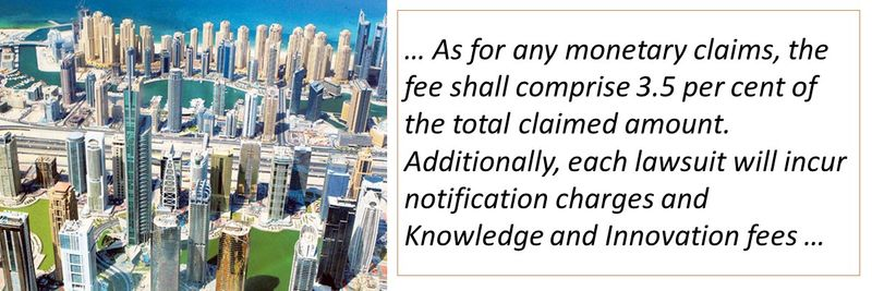 As for any monetary claims, the fee shall comprise 3.5 per cent of the total claimed amount.
