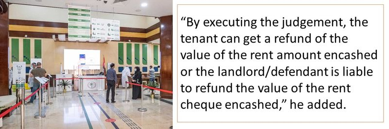 By executing the judgement, the tenant can get a refund