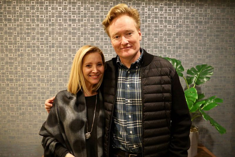 Conan O Brien with Lisa Kudrow