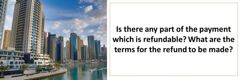 Is there any part of the payment which is refundable? What are the terms for the refund to be made?