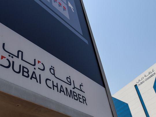 Stock Dubai Chamber of Commerce Office in Dubai.