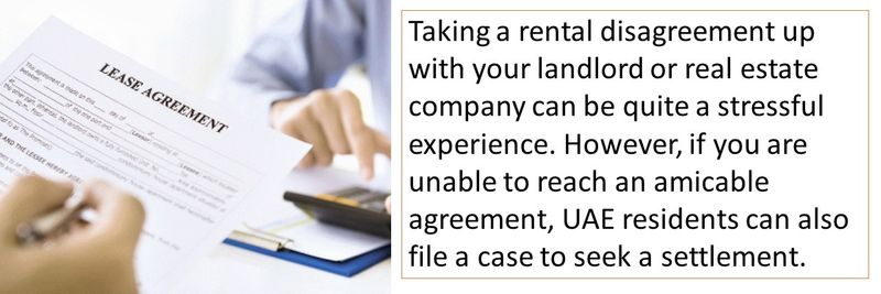 UAE residents can also file a case to seek a settlement
