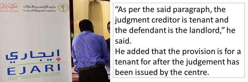 the judgment creditor is tenant and the defendant is the landlord