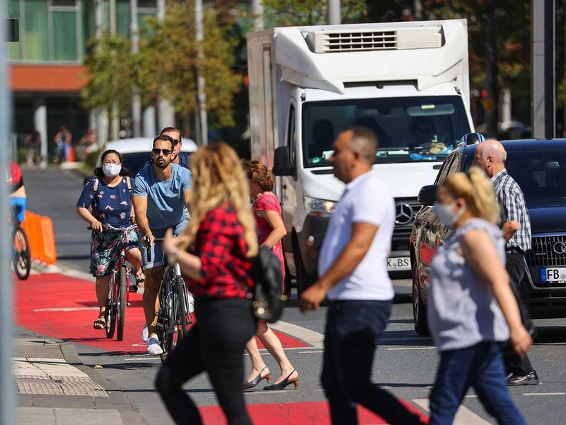 Germany covid pedestrians