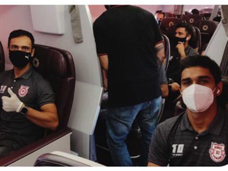 Kings XI Punjab on the plane to Dubai