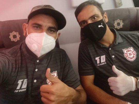 Mohammed Shami on the flight to UAE