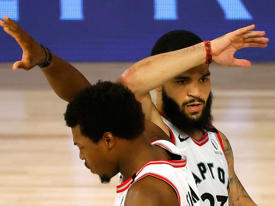 The Raptors beat the Nets in their NBA play-off clash