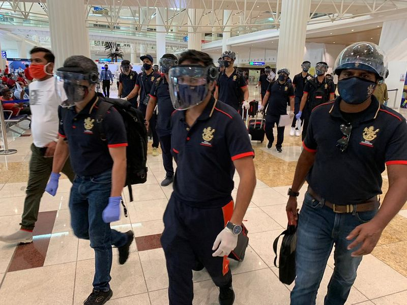 Royal Challengers Bangalore arrive in Dubai for IPL 13