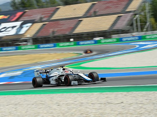 Williams driver George Russell during last week's Spanish Grand Prix