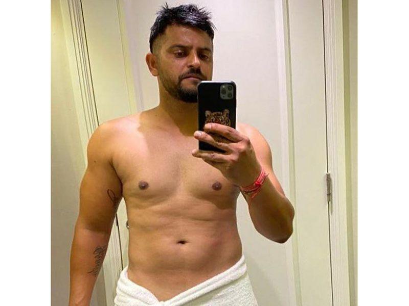Chennai Super Kings' Suresh Raina shared a post-workout pic