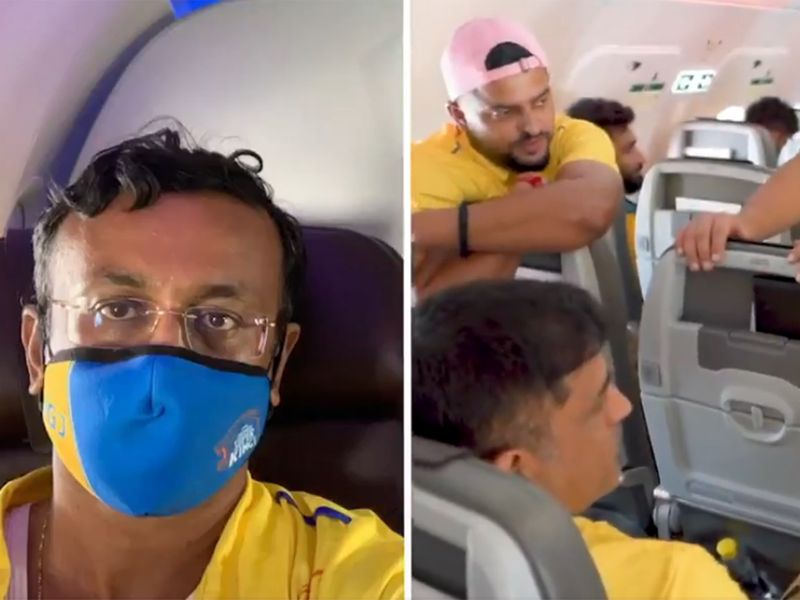 George John posted a video of MS Dohni swapping seats with him