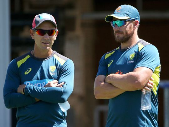 Justin Langer and Aaron Finch