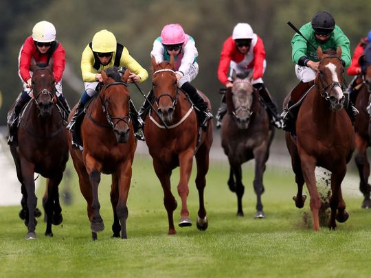 Maamora and William Buick (second left)