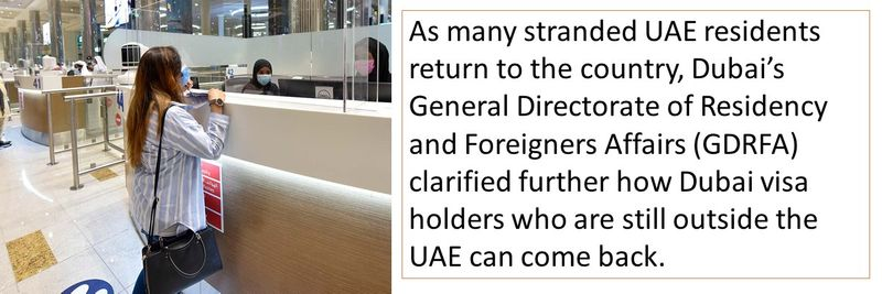 Procedure to return to the UAE clarified by Dubai Immigration official