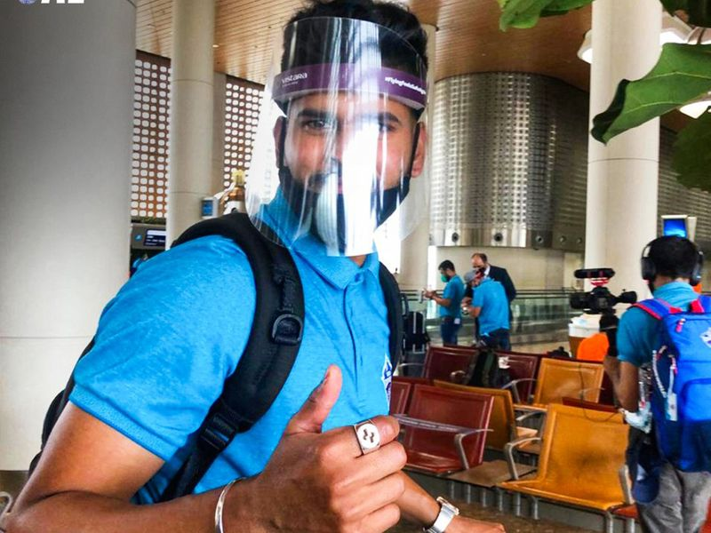 Sunrisers Hyderabad and Delhi Capitals arrived in the UAE on Sunday