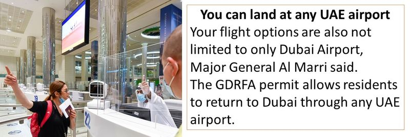 You can land at any UAE airport