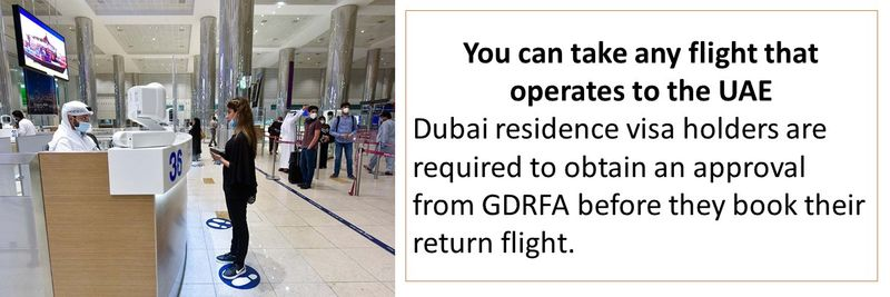 You can take any flight that operates to the UAE