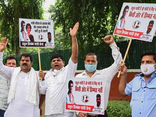 Congress supporters Delhi India