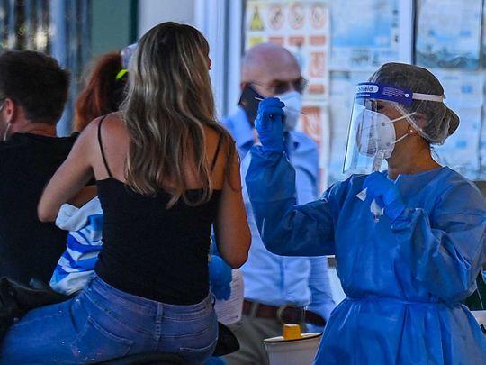 Italy vaccine testing swab covid