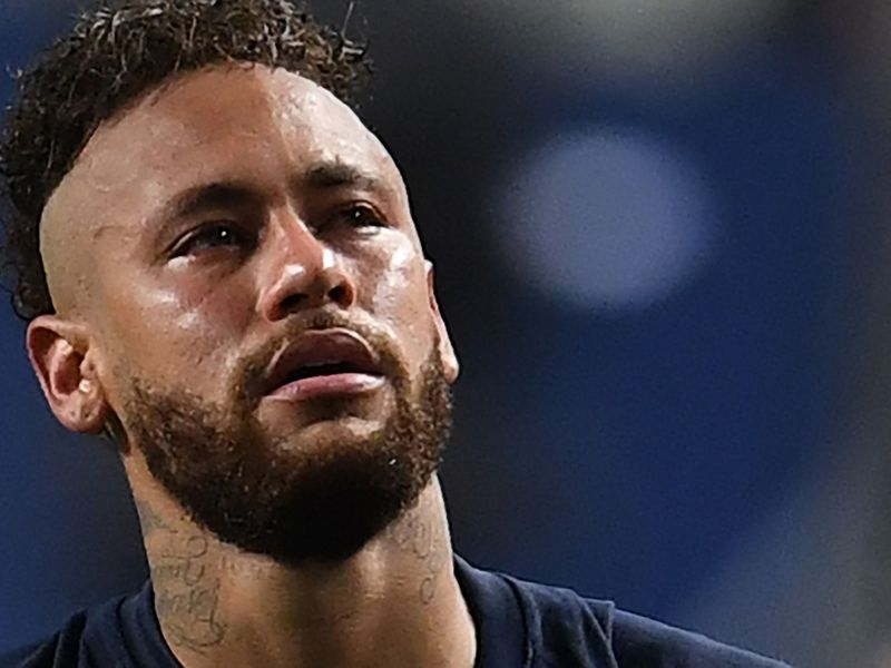 Neymar was in tears after PSG lost to Bayern