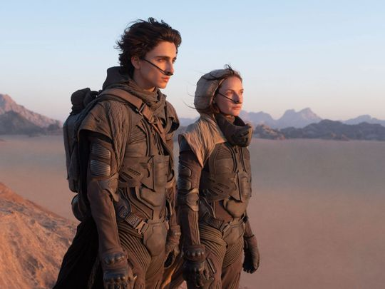 Timothee Chalamet and Rebecca Ferguson in Dune-1598248597933