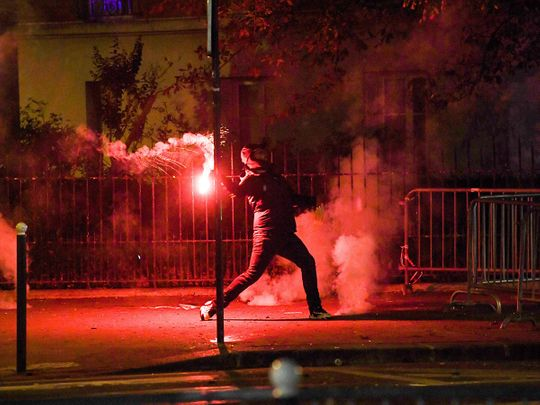 Trouble broke out in Paris after PSG lost the Champions League final