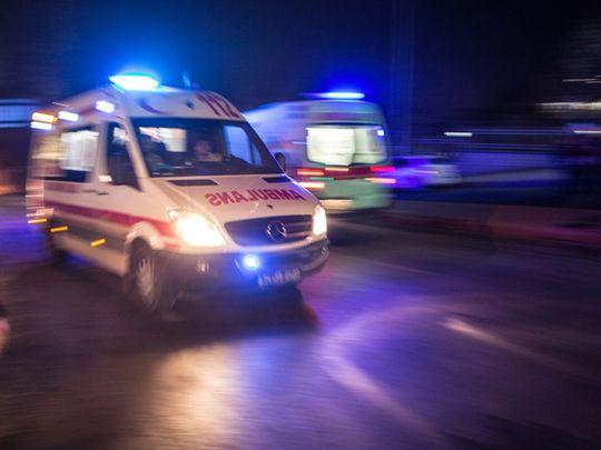 accident scene, ambulance
