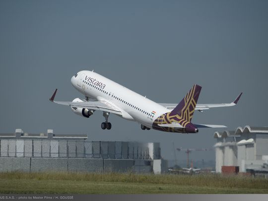 STOCK Vistara Aircraft - Take off
