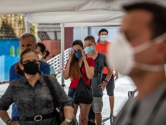Spain masks face