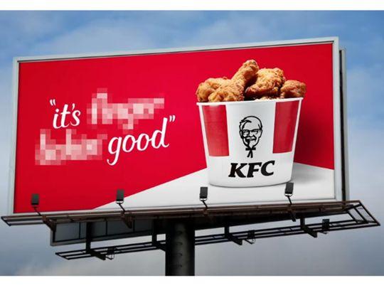 KFC drops slogan