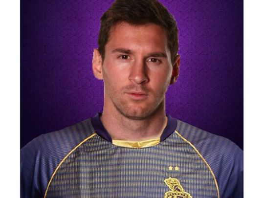 KKR cheekily posted a picture of Lionel Messi in a Kolkata shirt