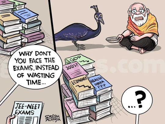 Satish Acharya Cartoon August 26