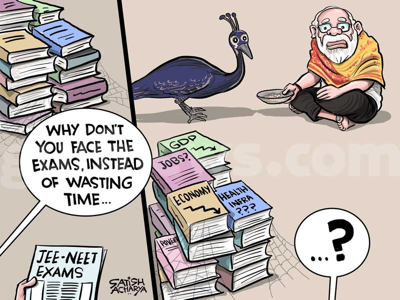 Satish Acharya Cartoon August 26