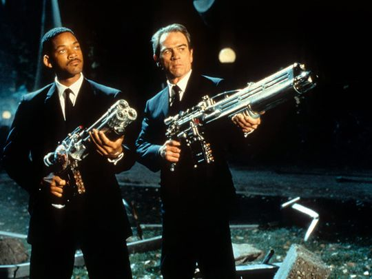 Tommy Lee Jones and Will Smith in Men in Black-1598432670269