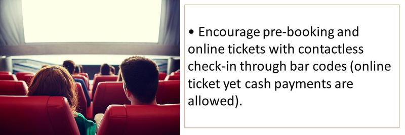 Encourage pre-booking and online tickets with contactless check-in through bar codes