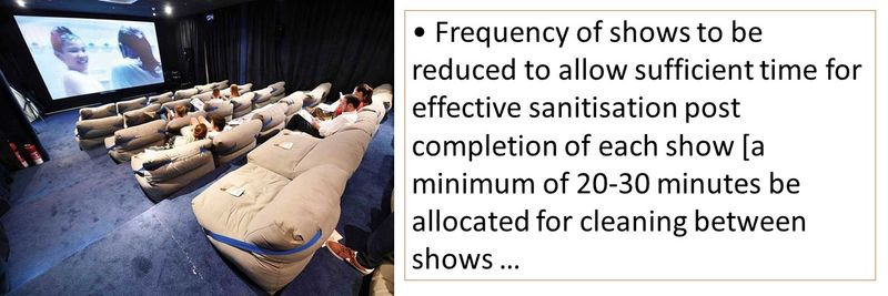 Frequency of shows to be reduced to allow sufficient time for effective sanitisation