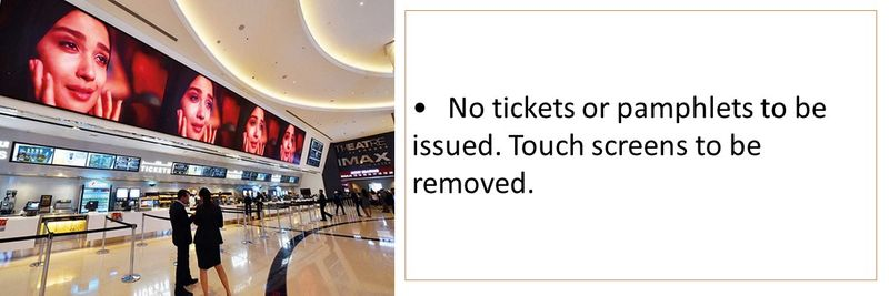 No tickets or pamphlets to be issued. Touch screens to be removed.