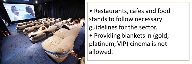 Restaurants, cafes and food stands to follow necessary guidelines for the sector.