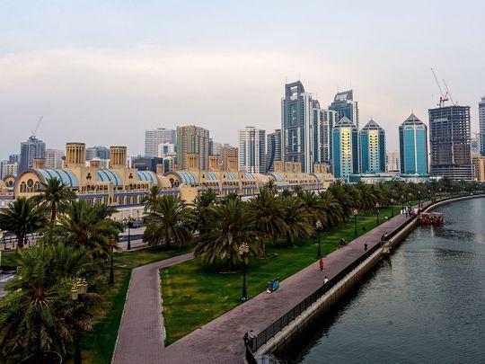 Stock Sharjah skyline