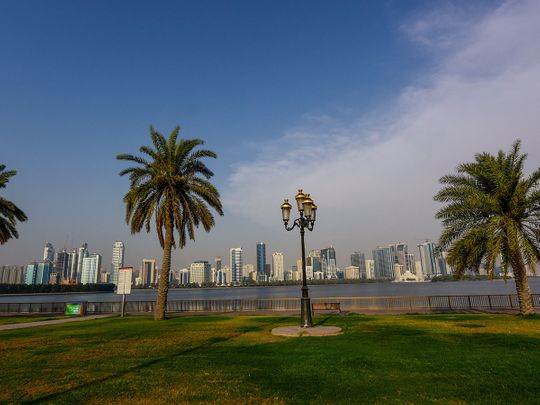 Stock Sharjah skyline